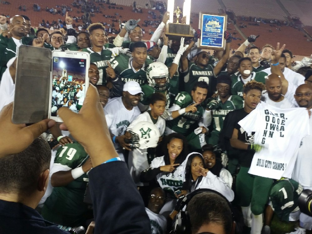 2014 Football Championship Picture with Trophy